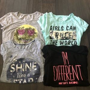 Lot of 4 - Girls Graphic Tees